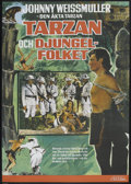 "Movie Posters:Adventure, Tarzan Triumphs (RKO, R-1970s). Swedish One Sheet (27.5"" X 39.5"").Adventure. Starring Johnny Weissmuller, Johnny Sheffield,..."