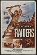 "Movie Posters:War, World War II Lot (Lippert/Brenner, 1953-54) One Sheets (2) (27"" X41""). ""Silent Raiders"" (Lippert, 1954) and ""Blood of Bataa...(Total: 2 Items)"