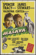 "Movie Posters:Adventure, Malaya (MGM, 1949). One Sheet (27"" X 41""). Adventure. StarringSpencer Tracy, James Stewart, Valentina Cortese, Sydney Green..."