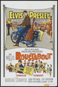"Movie Posters:Elvis Presley, Roustabout (Paramount, 1964). One Sheet (27"" X 41""). MusicalRomance. Starring Elvis Presley, Barbara Stanwyck, Joan Freeman..."