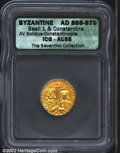 Ancients:Byzantine, Basil I, A.D. 867-886. AV solidus minted at Constantinople,...
