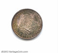 Argentina: , La Rioja 8 reales 1838-R, coin rotation, Mountain with ...