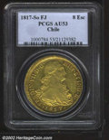 Chile: , Ferdinand VII gold 8 escudos 1817 So-FJ, Bust right with ...