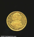 Colombia: , Charles IV gold 2 escudos 1791 P-SF, Bust right with date ...