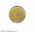 German States:Lubeck, Lubeck taler (1)605 struck in gold, Crowned double eagle/...