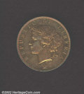 Liberia: , Two cents 1896-H, Bust left/Palm tree with date below, KM-...