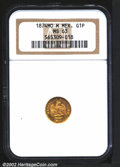 Mexico: , Republic gold peso 1874 Mo-M, Eagle on cactus with date ...