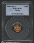 Mexico, Republic gold peso 1903 Mo-M, Eagle on cactus with date ...