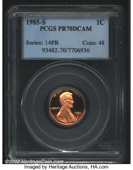 1985 S 1C Proof Lincoln Cent  **Free Shipping**