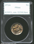 Proof Buffalo Nickels: , 1914 5C PR66 PCGS. An extraordinary proof type coin. The ...