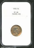 Proof Buffalo Nickels: , 1916 5C PR66 NGC. Both sides have rich original green-...