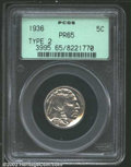 Proof Buffalo Nickels: , 1936 5C Type Two--Brilliant Finish PR65 PCGS. Dazzling ...