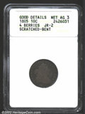 Early Dimes: , 1805 10C 4 Berries--Scratched, Bent--ANACS. Good Details, ...