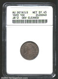 Bust Dimes: , 1820 10C Small 0--Obverse Cleaned--ANACS. AU Details, Net ...