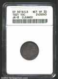 Bust Dimes: , 1821 10C Small Date--Cleaned--ANACS. XF Details, Net VF30....