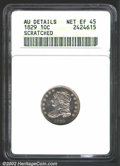 Bust Dimes: , 1829 10C Small 10C--Scratched--ANACS. AU Details, Net XF45....