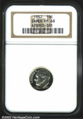 Proof Roosevelt Dimes: , 1957 10C PR68 Cameo NGC. Beautifully cameoed in finish, ...
