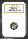 Proof Roosevelt Dimes: , 1982-S 10C PR69 Deep Cameo NGC. A splendid and seemingly ...
