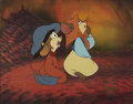 "animation art:Production Cel, ""An American Tail"" Fievel and Tanya Mousekewitz Production CelOriginal Art (Amblin Entertainment, 1986)...."