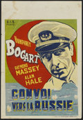 "Movie Posters:War, Action in the North Atlantic (Warner Brothers, c.1946). First Post-War Belgian (11"" X 16""). War...."