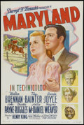 "Movie Posters:Drama, Maryland (20th Century Fox, 1940). One Sheet (27.5"" X 41"").Drama...."