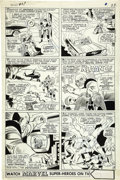Original Comic Art:Panel Pages, Werner Roth and Dick Ayers - X-Men #27, page 17 Original Art(Marvel, 1966)....