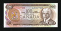 Canadian Currency: , BC-52a-i $100 1975.. ...