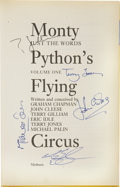 Movie/TV Memorabilia:Autographs and Signed Items, Cast-Signed Monty Python's Flying Circus: Just the WordsBook. Funnier than the funniest joke in the world, more... (Total:1 Item)