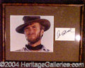 Autographs, Clint Eastwood