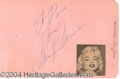 Autographs, Marilyn Monroe--Signature