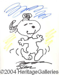 Charles Schulz - A fabulous piece of original art from one of the most revered cartoon artist of the 20th century, this...