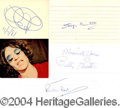 Autographs, (The Beatles) Autograph Lot