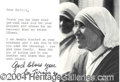 Autographs, Mother Teresa