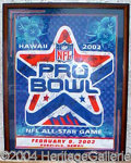 Autographs, 2002 Pro Bowl Signed Flag Display--30+ Autographs!