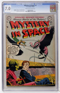Golden Age (1938-1955):Science Fiction, Mystery in Space #7 (DC, 1952) CGC FN/VF 7.0 Cream to off-whitepages....