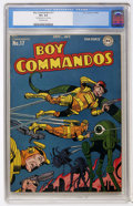 Golden Age (1938-1955):Adventure, Boy Commandos #17 (DC, 1946) CGC VF+ 8.5 Off-white pages....