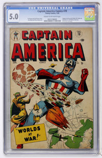 Captain America Comics #70 (Timely, 1949) CGC VG/FN 5.0 Cream to off-white pages