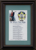 Political:Small Miscellaneous (pre-1896), Abraham Lincoln: Colorful C. Magnus Song Sheet...