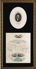 Autographs:U.S. Presidents, Abraham Lincoln: Very Scarce Signed Civil War Naval Commission....