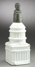 Political:3D & Other Display (pre-1896), Ulysses S. Grant: Rare Milk Glass Decanter in the Form of the Capitol Building. ...