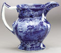 Political:3D & Other Display (pre-1896), George Washington: Circa 1820s Historical Blue Pitcher...