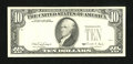 Error Notes:Missing Third Printing, Fr. 2029-L $10 1990 Federal Reserve Note. About Uncirculated.. ...