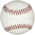Autographs:Baseballs, Mickey Mantle Single Signed Baseball. Quality sweet spot singlecomes to us here courtesy of the great Hall of Fame slugger...