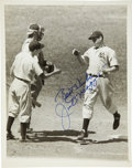 "Autographs:Photos, Joe DiMaggio Single Signed Photograph. Unique 8x10"" black and whiteportrait of the legend Joe DiMaggio is made available h..."