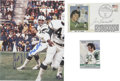 Football Collectibles:Photos, Joe Namath Signed First Day Cover and Signed Photograph Lot of 2. The lot consists of a signed First Day Cover commemoratin...