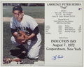 Autographs:Photos, Yogi Berra Single Signed Photograph. Commemorating his induction inthe Hall of Fame, the color photograph with life time s...