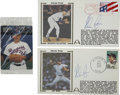 Autographs:Post Cards, Nolan Ryan Signed First Day Covers Lot of 2. We offer two First DayCovers commemorating major milestones in the career of ...