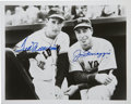 Autographs:Photos, Ted Williams and Joe DiMaggio Multi-Signed Photograph. The greatestbatsmen of their era pose during a Fenway Park meeting....