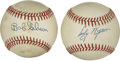 Autographs:Baseballs, Bob Gibson and Early Wynn Single Signed Baseball Lot of 2. Two Hallof Fame pitchers with a lot in common, both Gibson and...