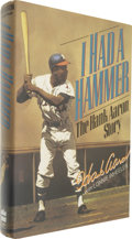 "Autographs:Others, Hank Aaron Signed Book. First edition hardcover book called ""I Had a Hammer - The Hank Aaron Story"" tells the story of the m..."